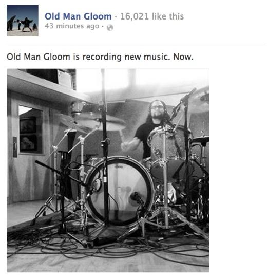 Oficjalny wpis na facebooku Old Man Gloom