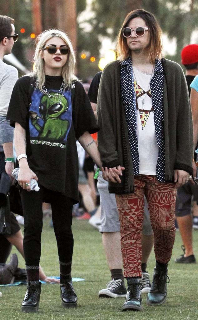 Frances Bean-Cobain z mężem na zeszłorocznym festiwalu Coachella.