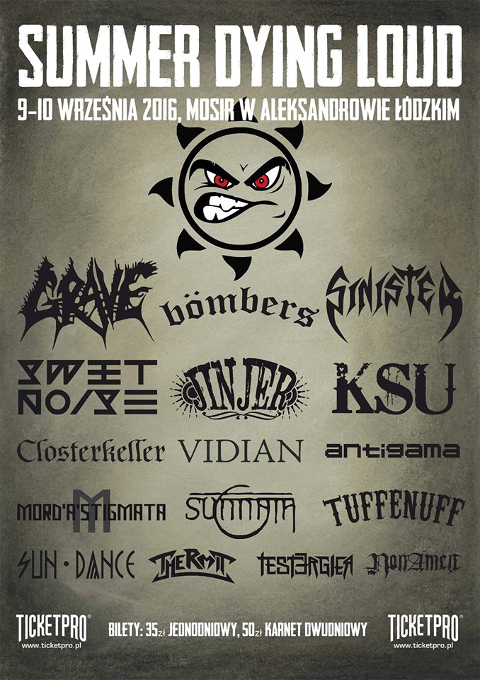 VIII urodziny DeathMagnetic.pl: Wygraj karnet na Summer Dying Loud!