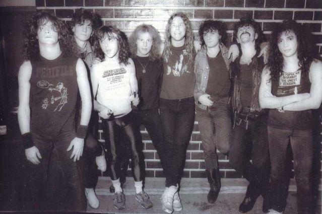Kat wraz z Metalliką w 1987 roku.
