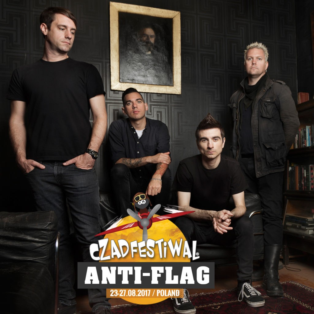 Anti-Flag artwork for Czad Festiwal, PL