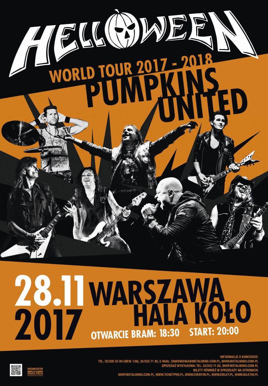 Plakat trasy koncertowej Helloween