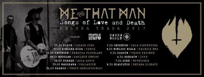 Me And That Man: Oficjalne ogłoszenie polskiej trasy
