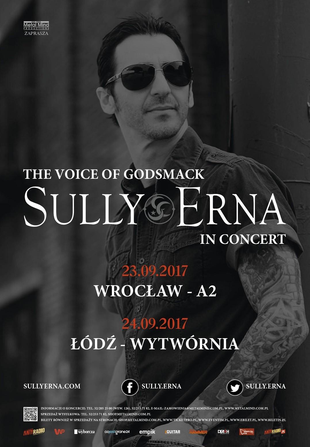Sully Erna (Godsmack) na 2 koncertach w Polsce!