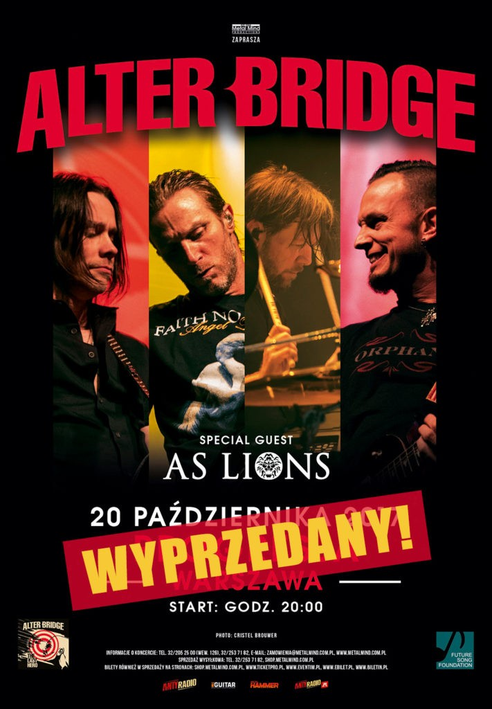 Alter Bridge: Koncert wyprzedany, a fani przygotowali specjalne akcje