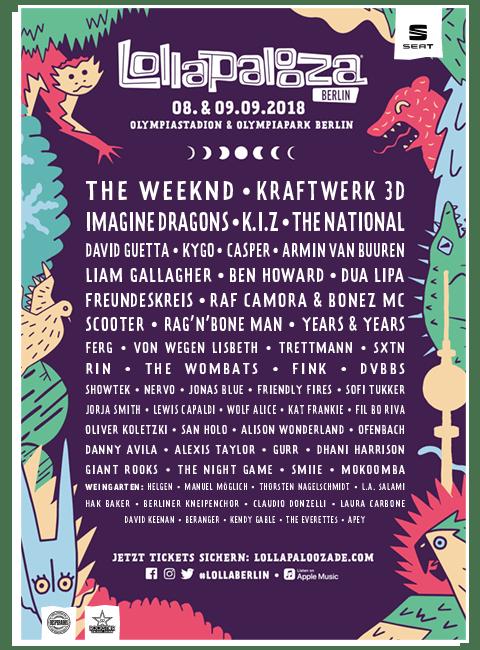 Lollapalooza Berlin: Zakończ festiwalowy sezon w stolicy Niemiec