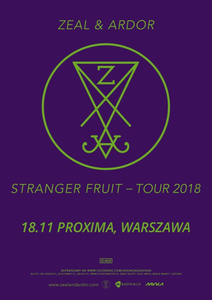 Zeal & Ardor zagra w Warszawie