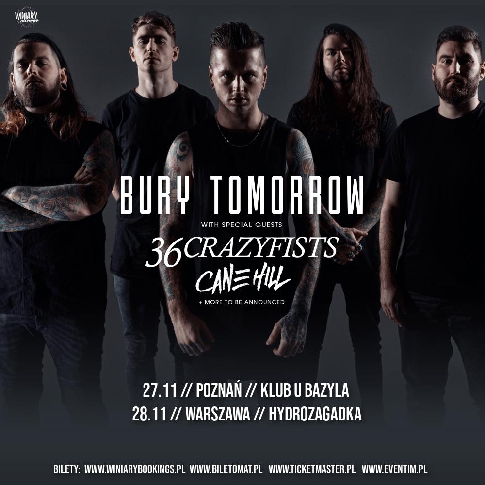 Bury Tomorrow i 36 Crazyfists na dwóch koncertach w Polsce
